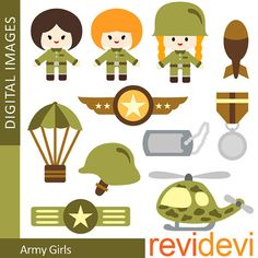 Instant download printable photo. Army clipart tools