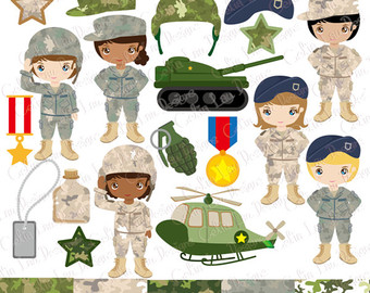 Army etsy clip art. Military clipart tools