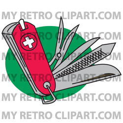 Very useful swiss knife. Army clipart tools