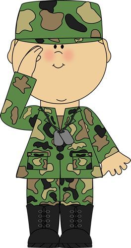 Soldier saluting clip art. Army clipart tools