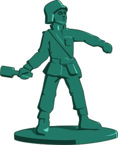 Toy story green man. Army clipart toys
