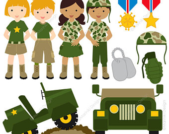 Etsy military vector graphics. Army clipart