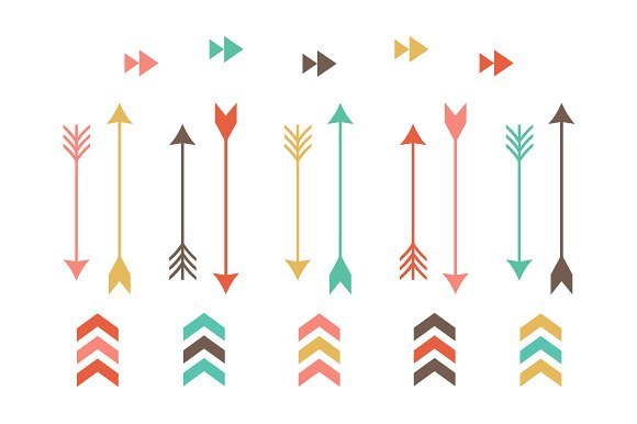 Tribal arrow clip art. Arrows clipart cute