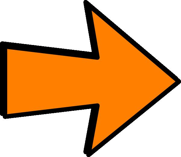 Allergy awareness. Clipart arrow orange
