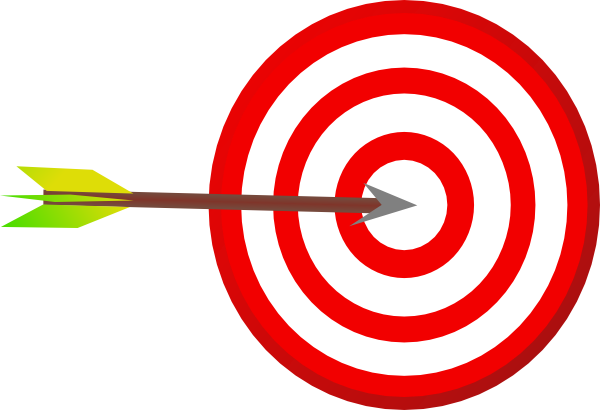 Target with clipart . Arrow clip art artistic
