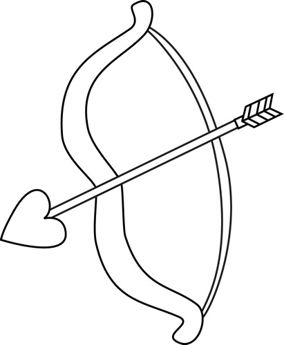 Arrow clip art black and white. Valentine s day bow