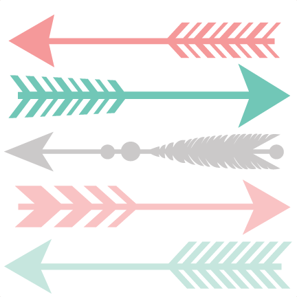 Set svg pinterest arrowset. Arrow clip art boho