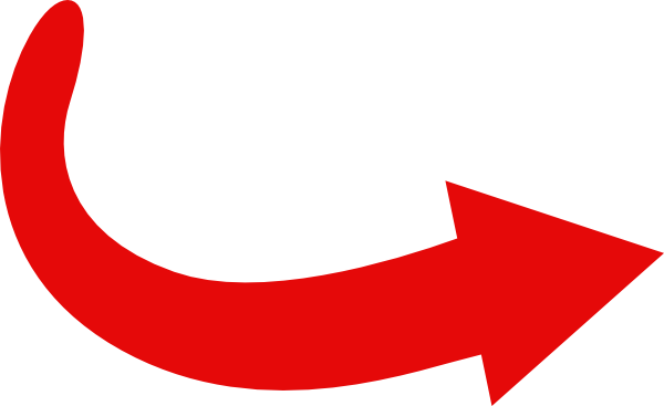 Red arrow curve clip. Arrows clipart swoosh