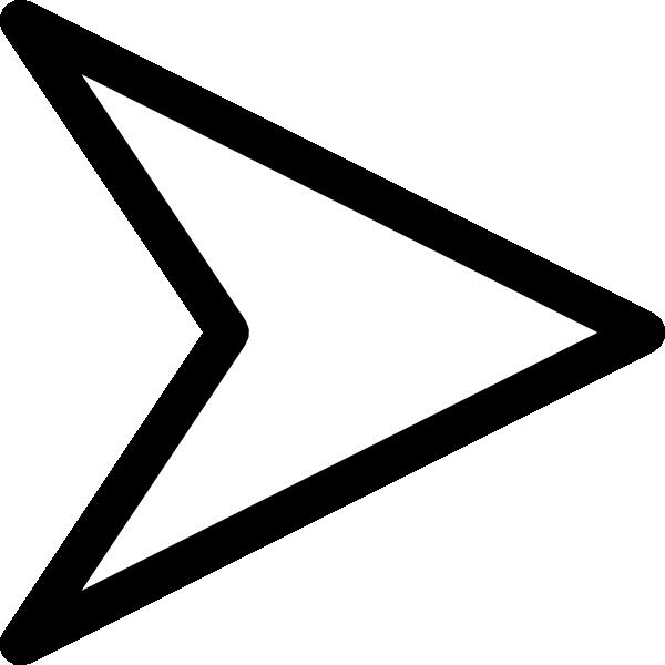 Plain right white arrow. Arrowhead clipart tip