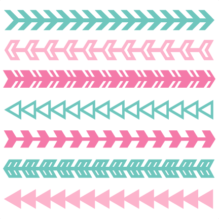 Arrow clip art cute. Borders set svg scrapbook
