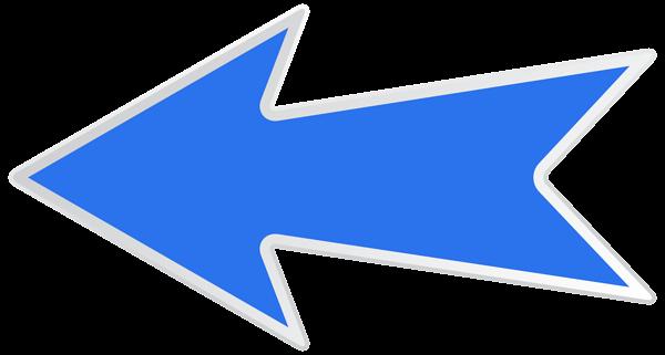 Arrow clip art decorative. Blue left png image