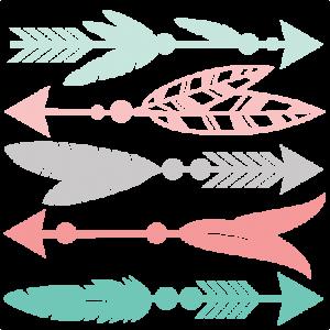 Daily freebie feather set. Arrow clip art decorative