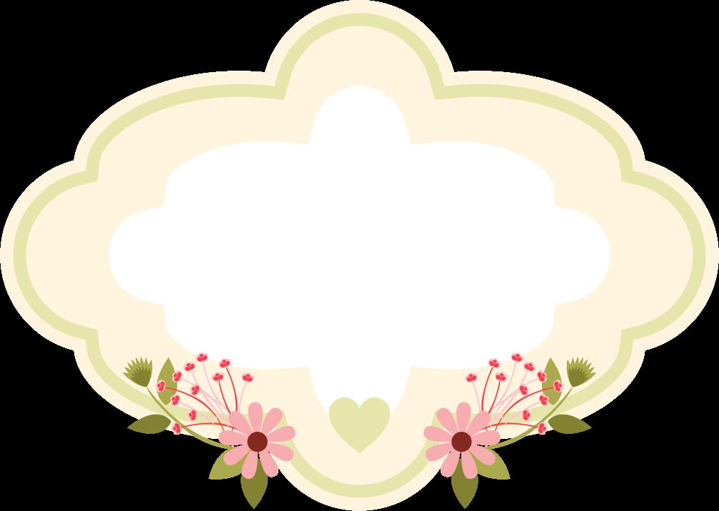 Frame floral em png. Lace clipart magic flower