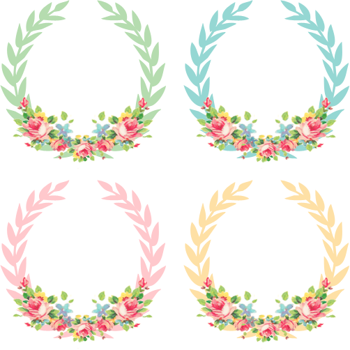 Vintage freebie pretty wreaths. Arrow clip art shabby chic