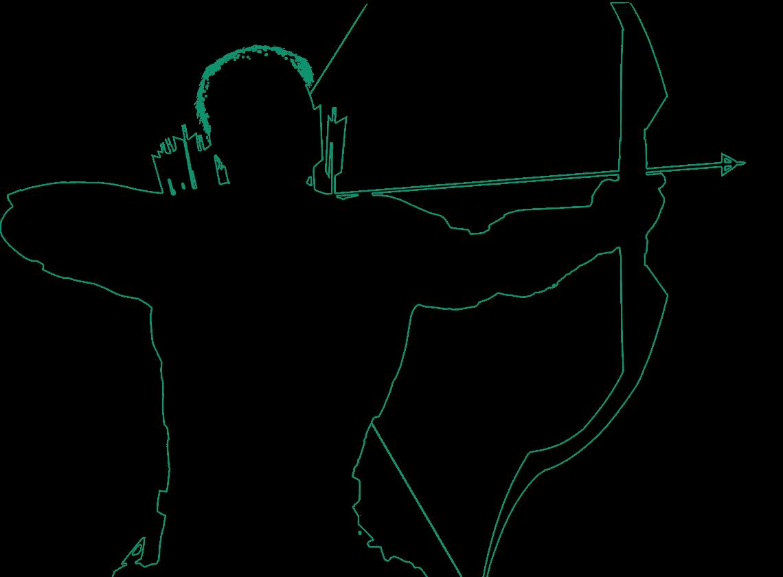 Image portrait outline png. Clipart arrows silhouette