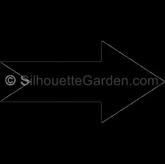 . Arrow clip art silhouette