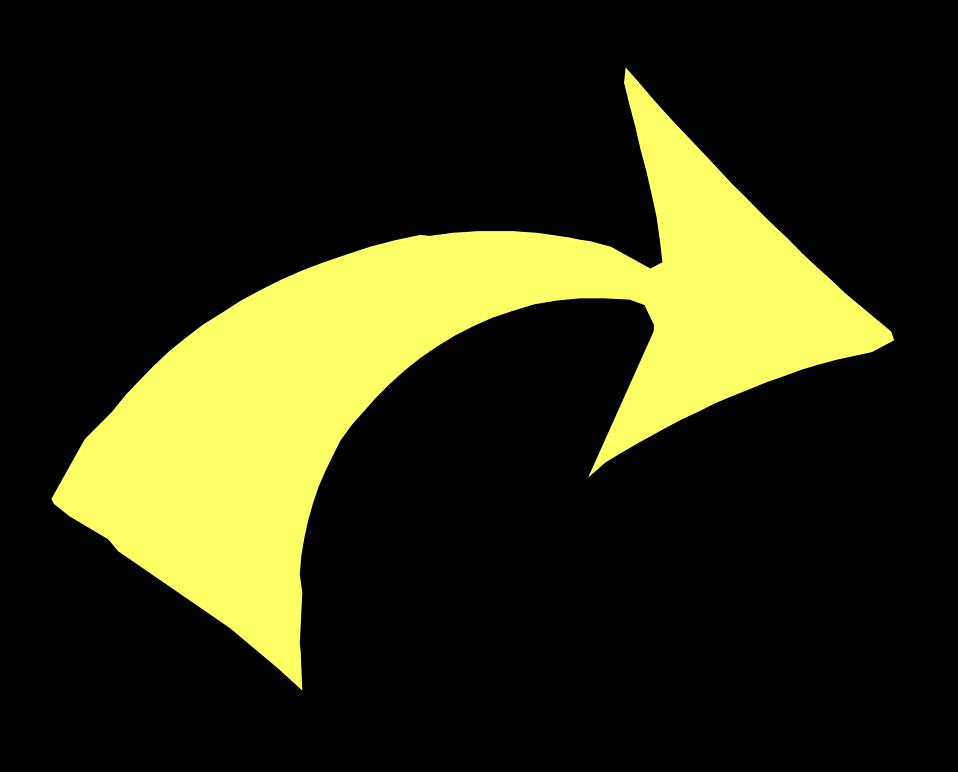 Arrow clip art transparent background. Yellow free stock photo