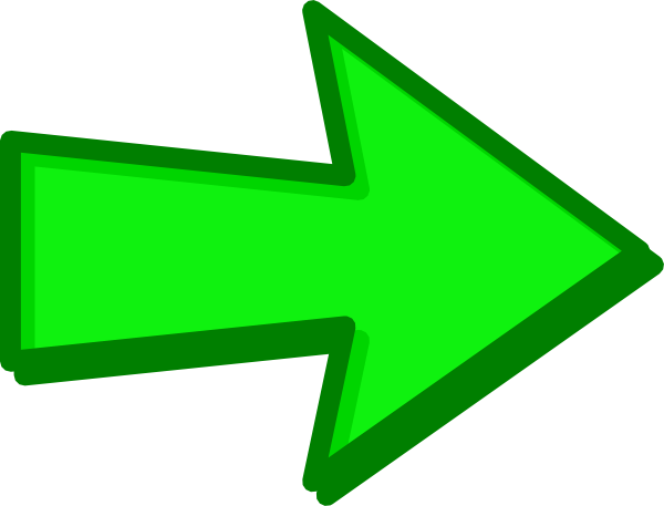 Arrow clip art transparent background. Green png mart