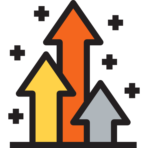 Arrow clip art trendy. Business arrows and finance