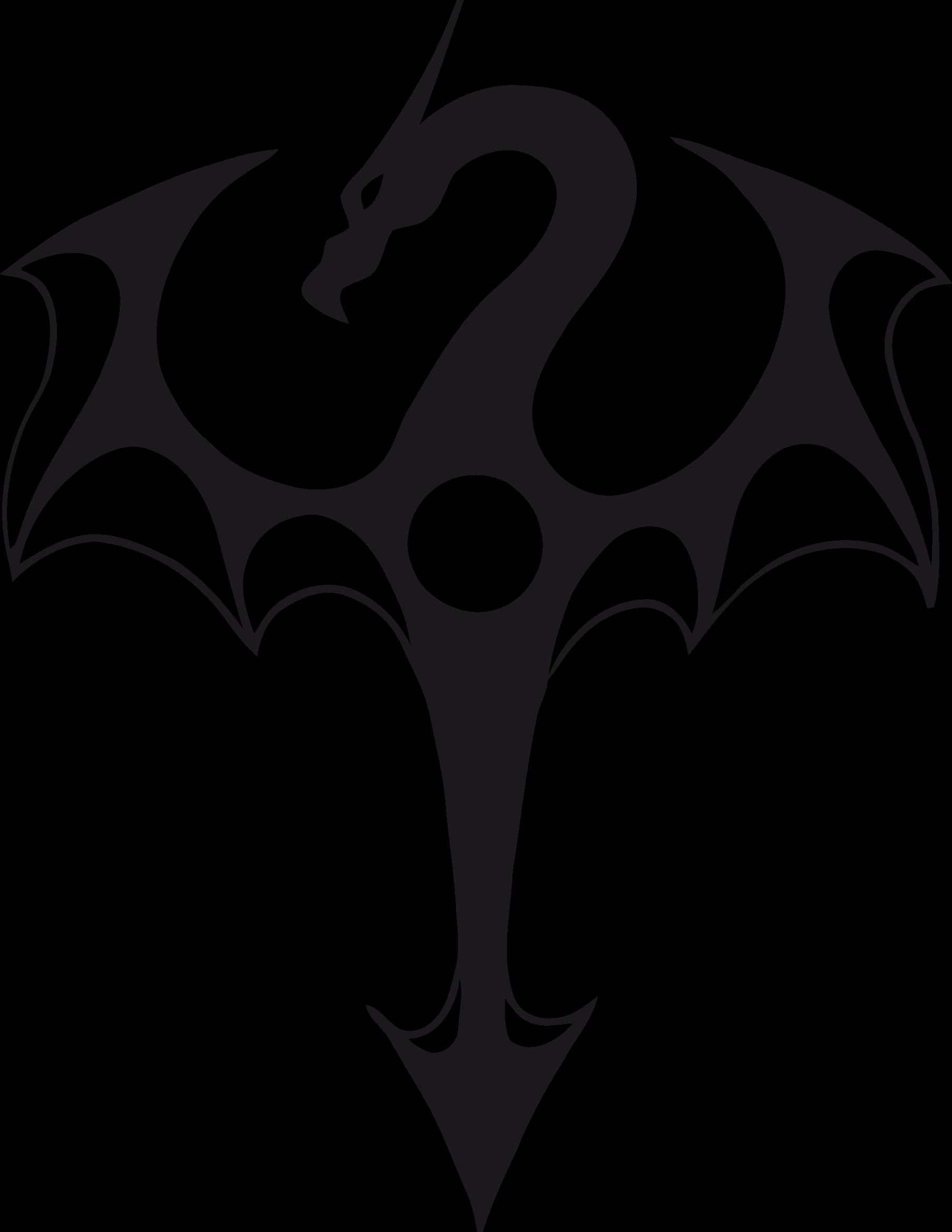Clipart dragon big image. Arrow clip art tribal
