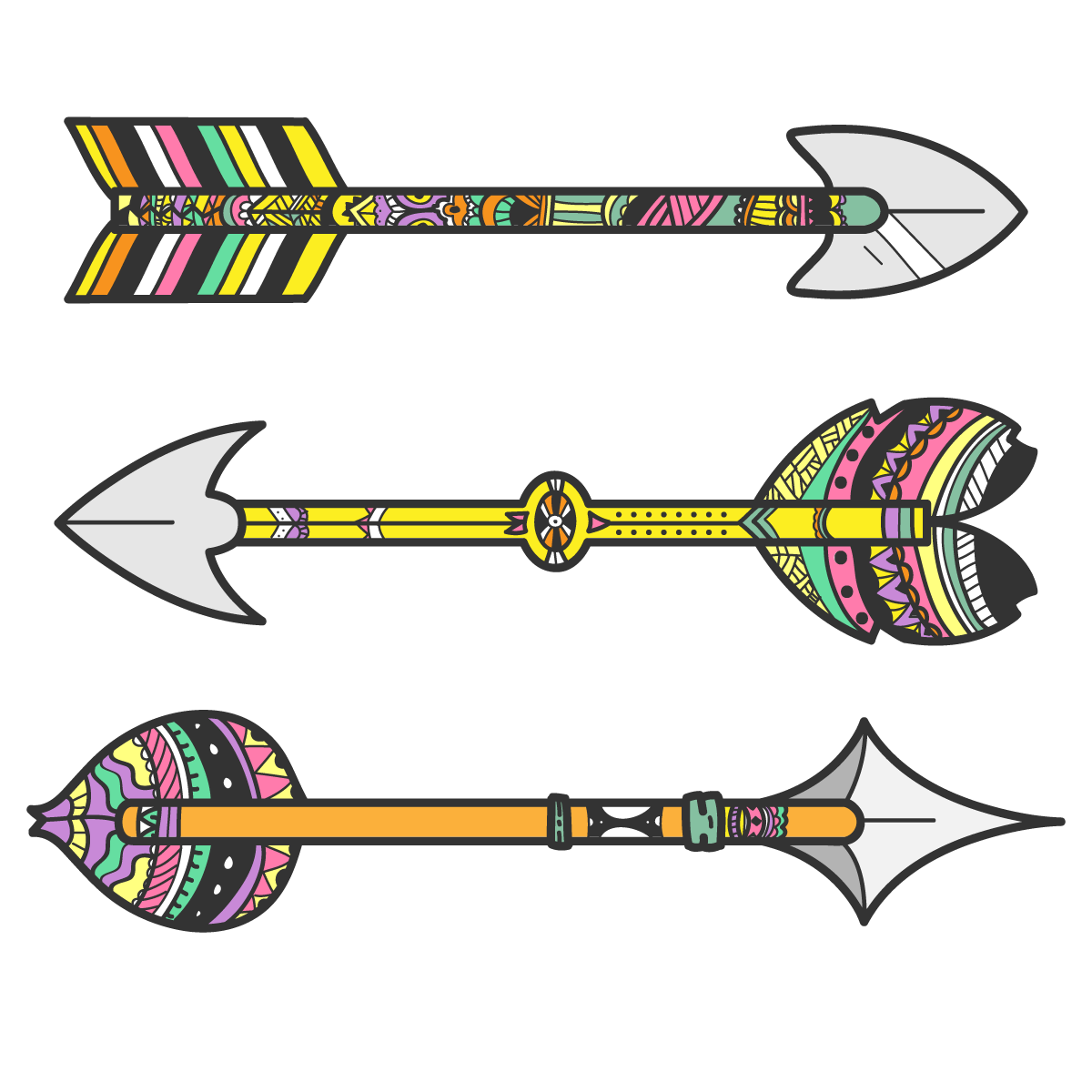 Arrow clip art tribal. Bow and tribe vector