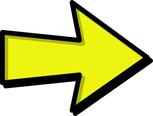 Yellow clip art at. Clipart arrow