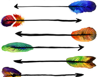 Watercolor crawfish boil digital. Arrows clipart artsy