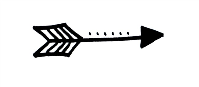Arrows clipart artsy. Arrow pencil and in
