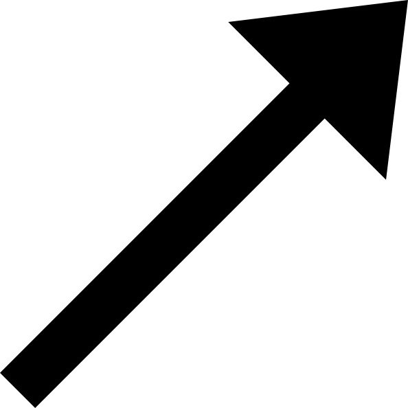 Up right arrow clip. Arrows clipart black and white