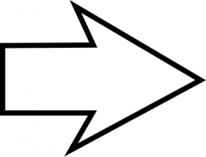 Arrows clipart black and white. Arrow letters
