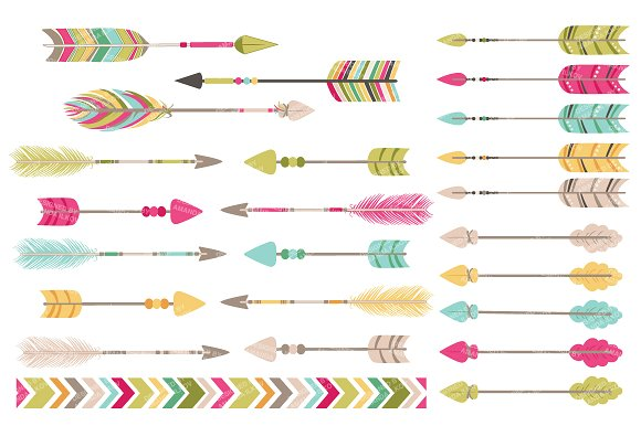 boho clipart arrow