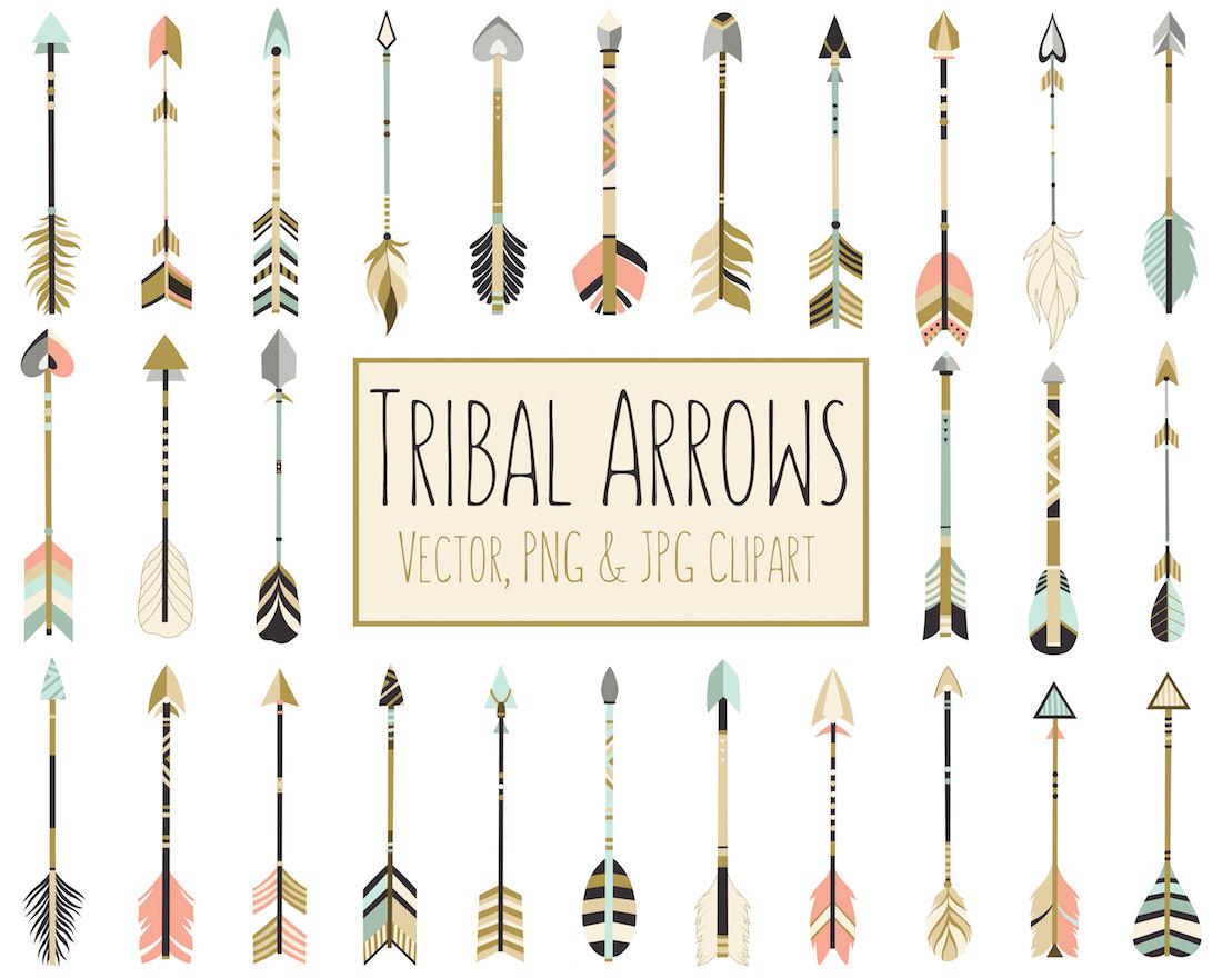 Tribal arrows dpi vector. Arrow clipart boho
