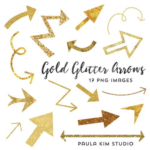 Arrows clipart calligraphy. Gold glitter paula kim