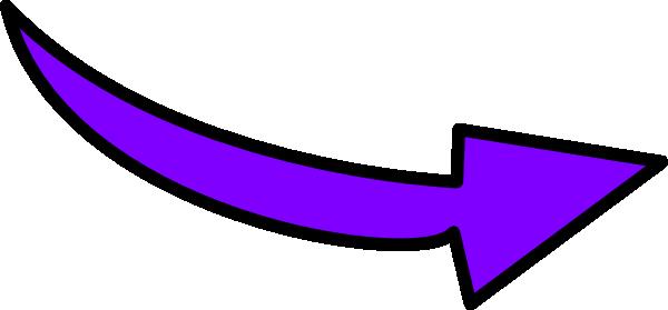 Purple curvy arrow clip. Arrows clipart cartoon