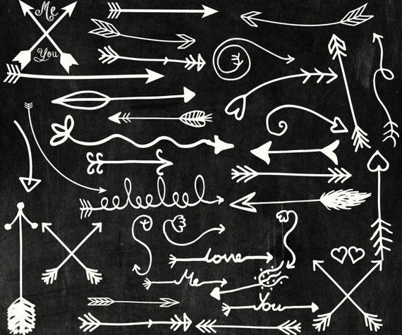 Chalk tribal clip art. Arrows clipart chalkboard
