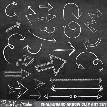 arrows clipart chalkboard