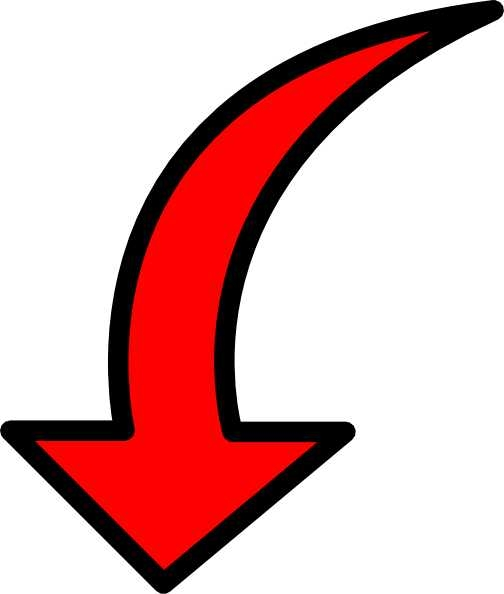 Red arrow transparent image. Arrows clipart clear background