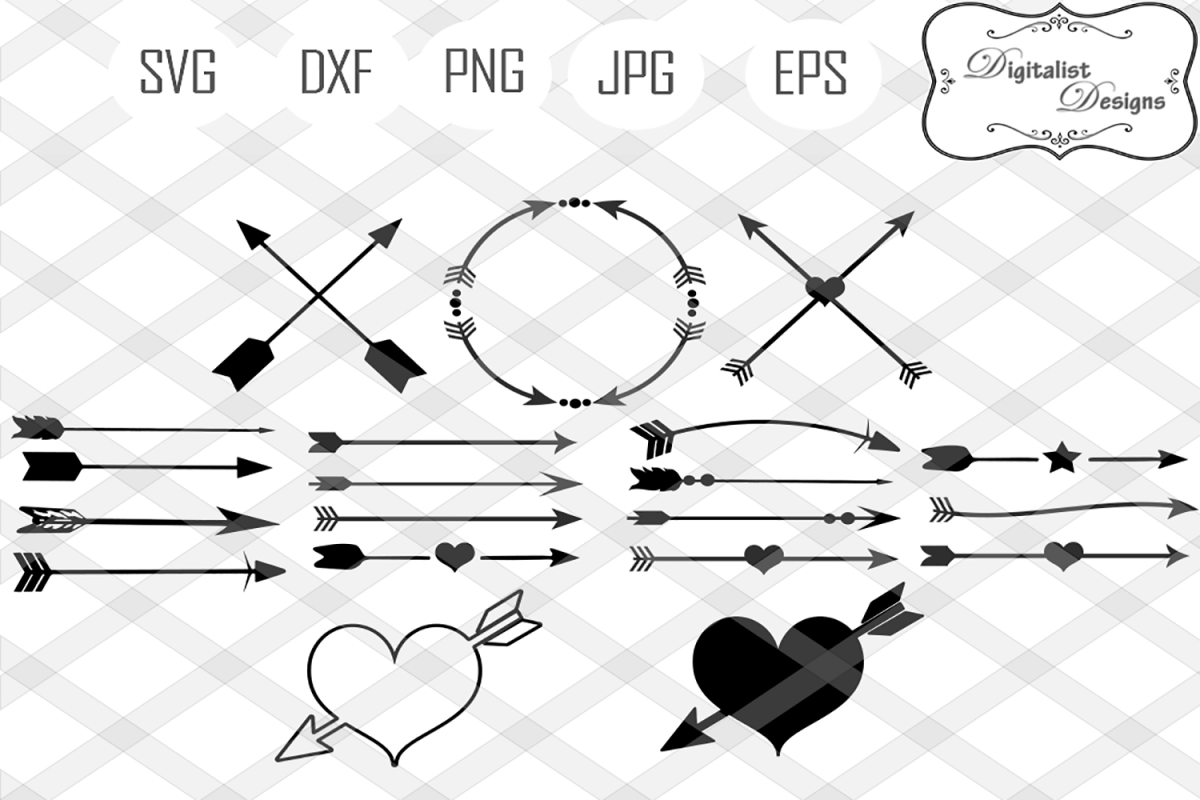 Arrow svg circle design. Arrows clipart decorative