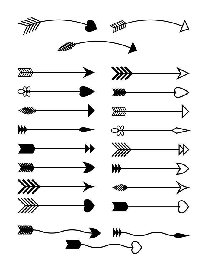 Arrows clipart decorative.  rustic arrow svg