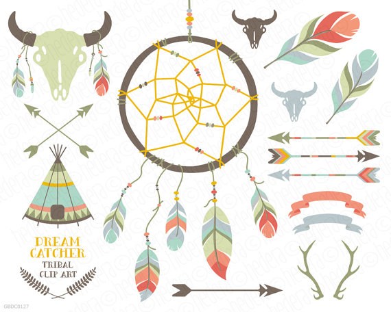 Arrows clipart dream catcher. Dreamcatcher teepee feathers crossed