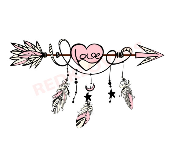 Arrows clipart dream catcher. Svg dxf silhouette feather