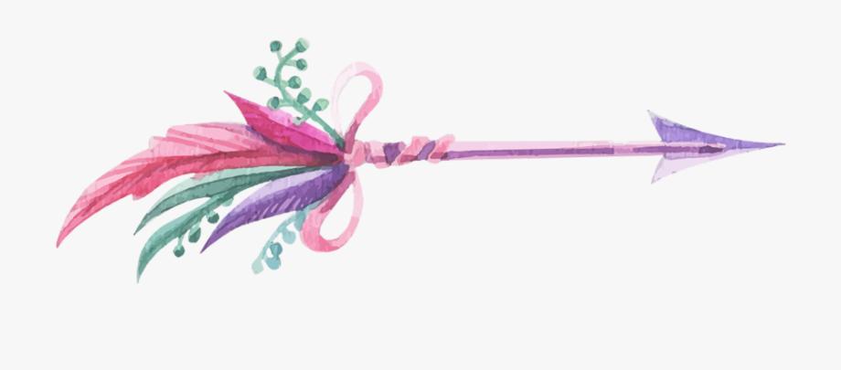 Arrows clipart feather. Boho bohemian watercolor arrow