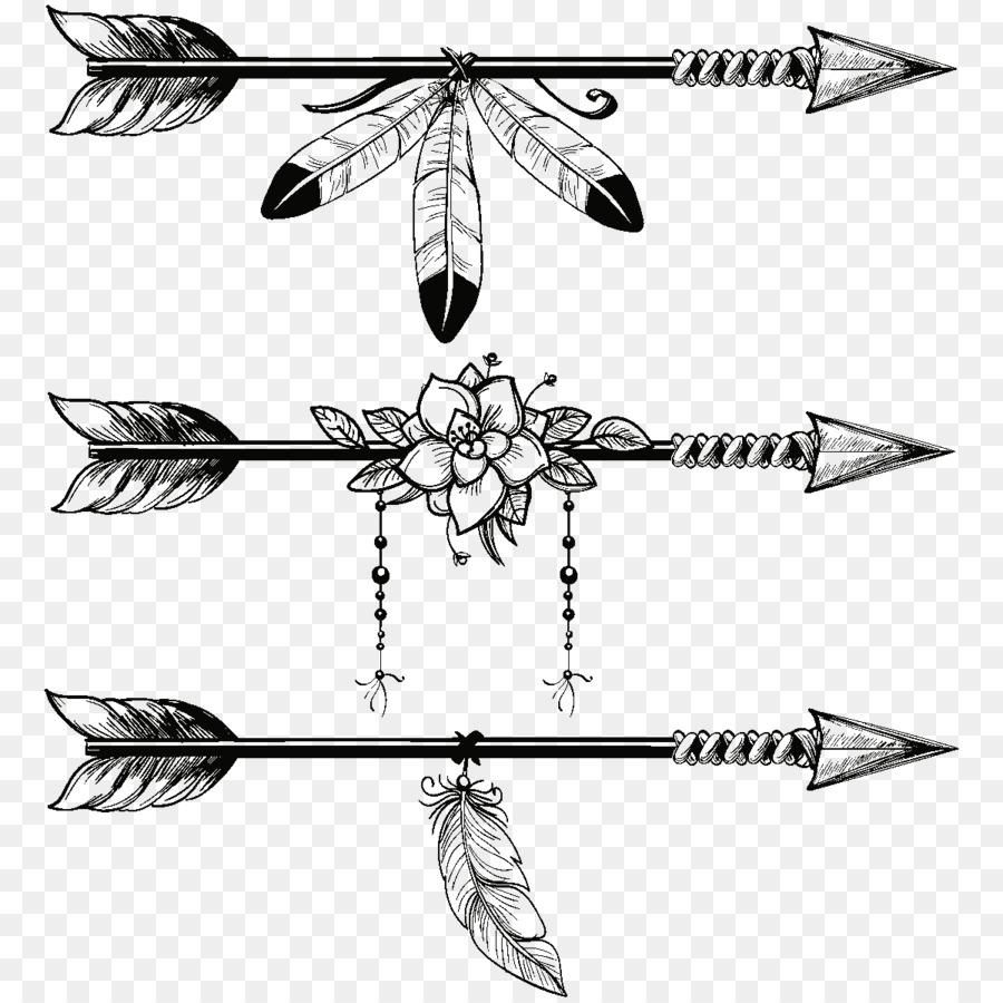 Feathers clipart arrow. Line art feather illustration