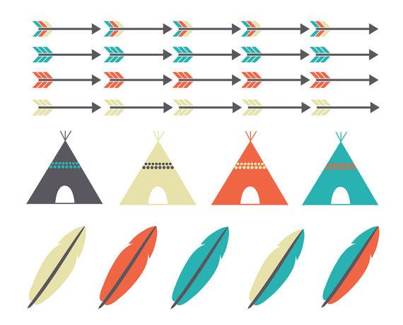 Arrows clipart feather. Tribal arrow teepee