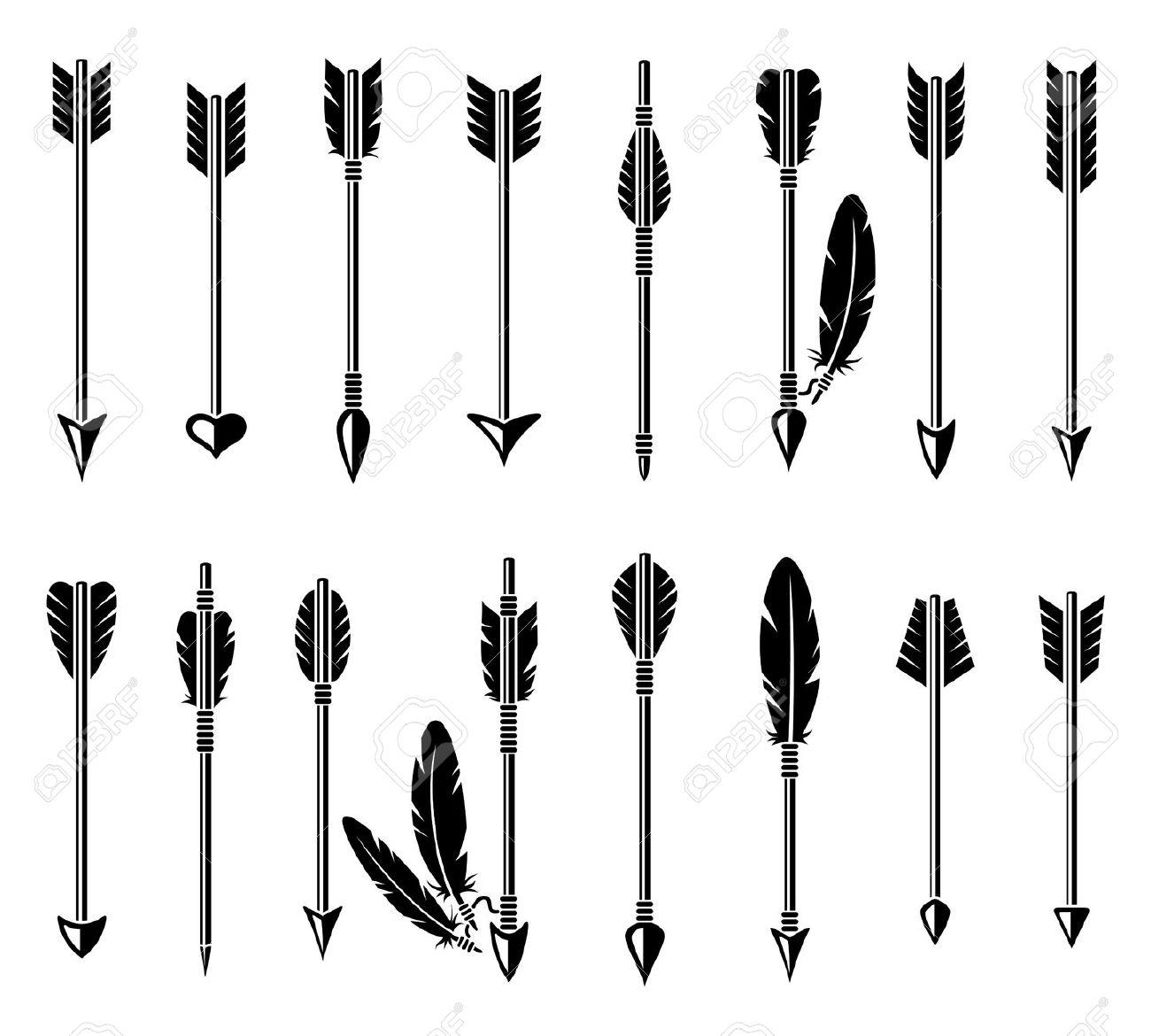Arrow clipart feather. Station