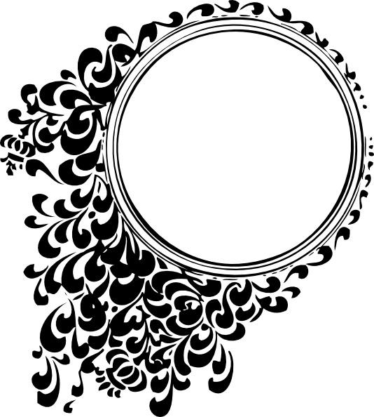 Boarder clipart filigree. Circle clip art free