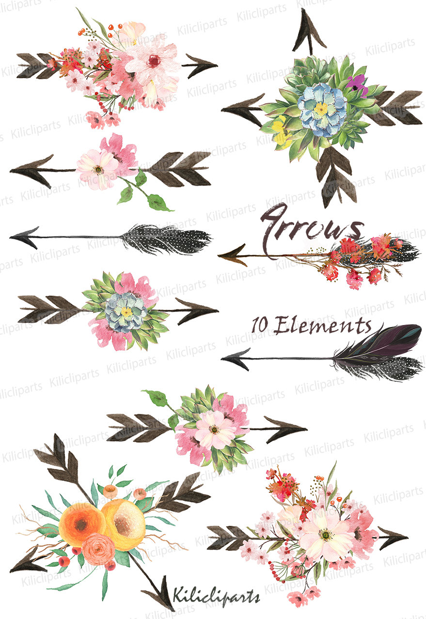 Arrows clipart flower, Arrows flower Transparent FREE for ...