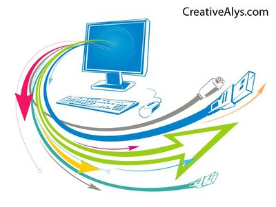 Free abstract technology with. Arrows clipart funky