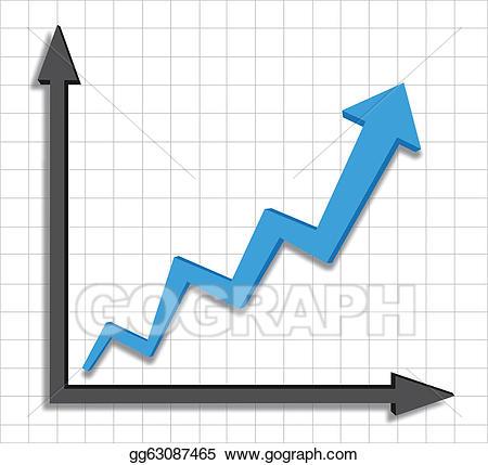 Chart clipart growth. Vector stock progress blue