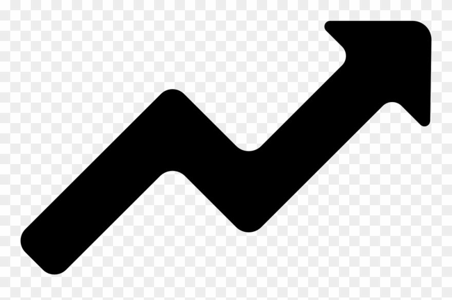 Graph clipart arrow. Arrows zig zag icon